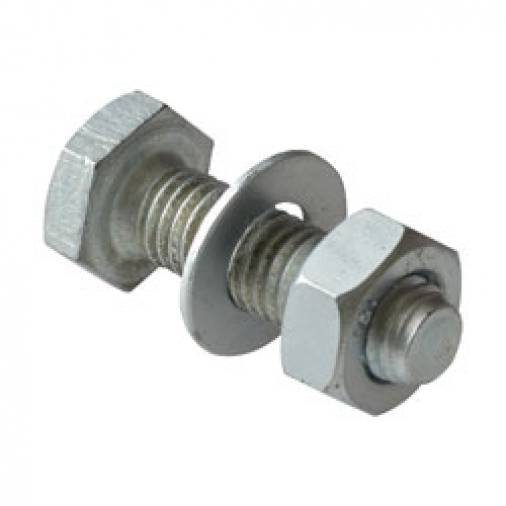 Forgefix Hex Full Nuts BZP Pack 100 Image 1