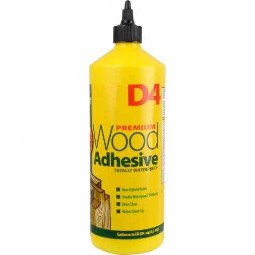 Everbuild D4 Wood Adhesive White 1ltr (12) Image 1