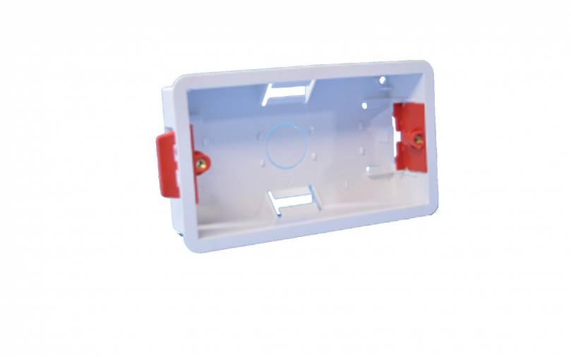 SparkPak A129 2 Gang Cavity Box 25mm Image 1