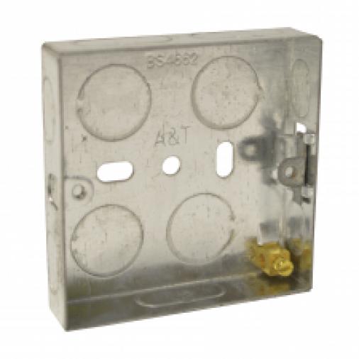 SparkPak A83 1 Gang Metal Box 25mm Image 1