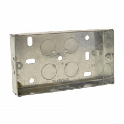 SparkPak A88 2 Gang Metal Box 47mm Image 1