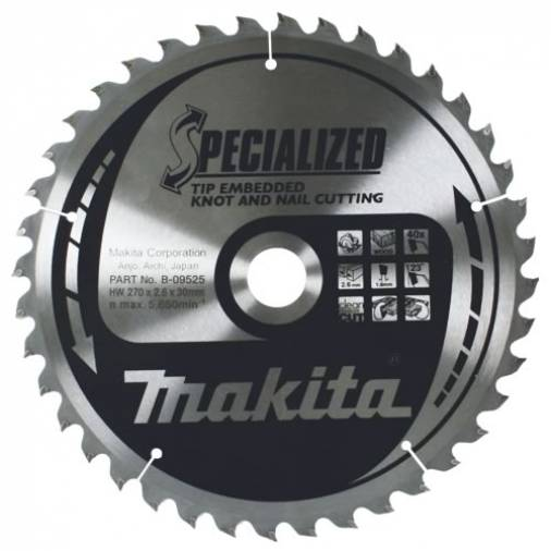 Makita Specialized Saw Blades Knot and Nail Image 1