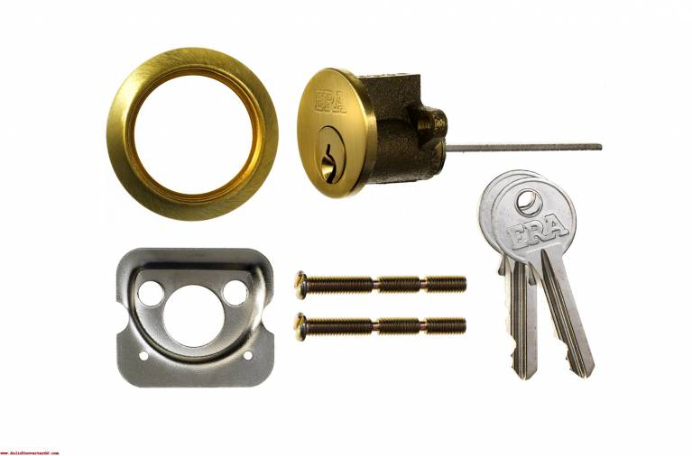 ERA Traditional Rim Nightlatch Chrome Body and Cylinder Image 2