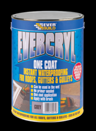 Everbuild Evercryl One Coat Roof Repair Black Image 1