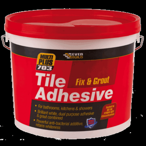 Everbuild 703 Fix & Grout Tile Adhesive White Image 1