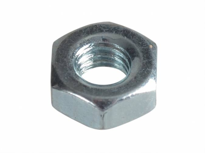 Forgefix FPNUT16 Hex Full Nuts & Washers M16 BZP Pack 4 Image 1