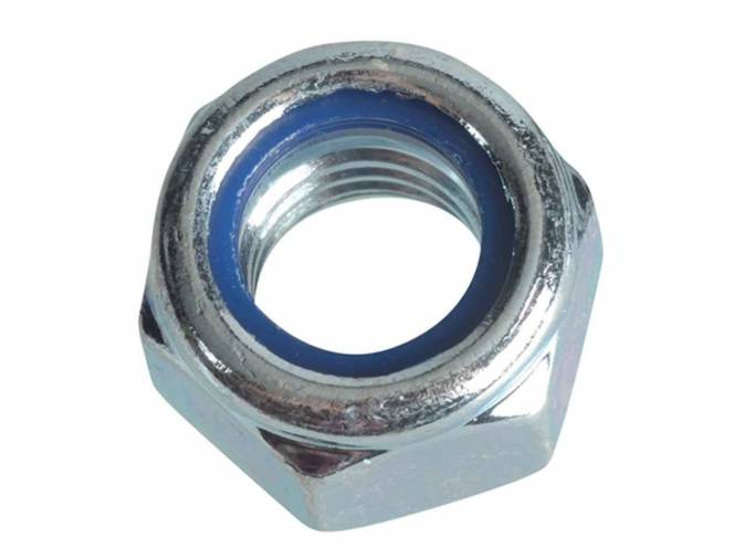 Forgefix FPNYLOC12 Nyloc Nuts & Washers M12 BZP Pack 6 Image 1