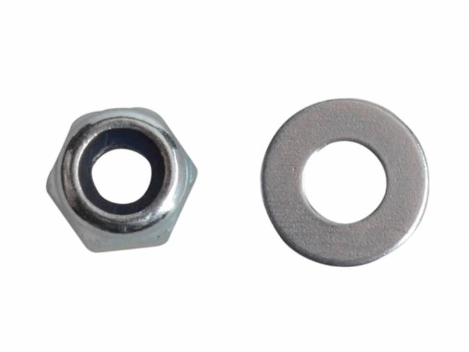 Forgefix FPNYLOC3 Nyloc Nuts & Washers M3 BZP Pack 60 Image 1