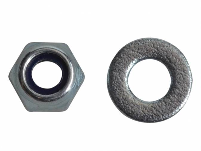 Forgefix FPNYLOC4 Nyloc Nuts & Washers M4 BZP Pack 50 Image 1