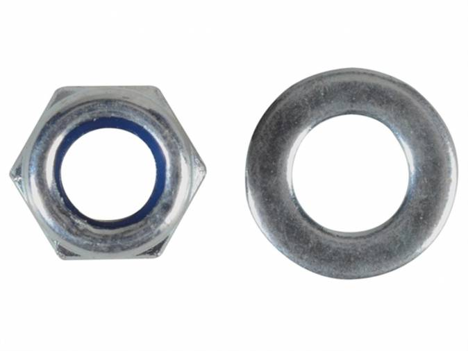 Forgefix FPNYLOC5 Nyloc Nuts & Washers M5 BZP Pack 40 Image 1