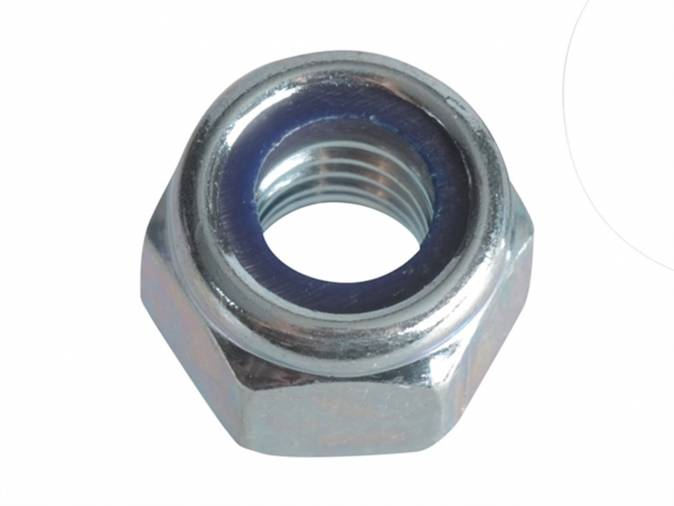 Forgefix FPNYLOC10 Nyloc Nuts & Washers M10 BZP Pack 8 Image 1