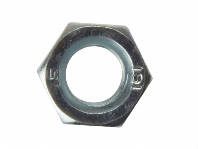 Forgefix 10NUT20 Hex Full Nuts M20 BZP Pack 10 Image 1