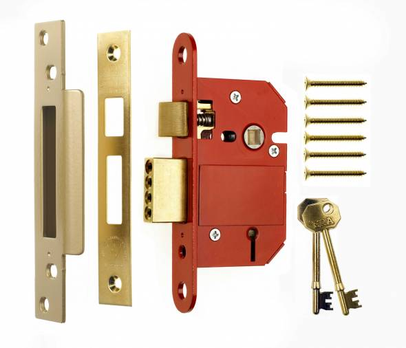 ERA Fortress 5L BS Mortice Sashlocks PB Image 1