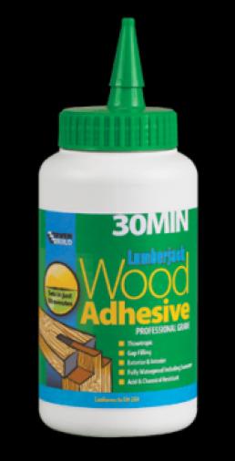 Everbuild Lumberjack 30 Minute Polyurethane Wood Adhesive 750gm Tub (6) Image 1