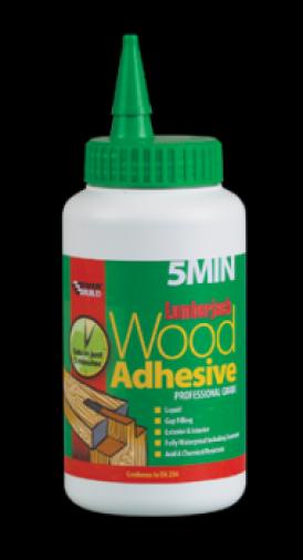 Everbuild Lumberjack 5 Minute Ployurethane Wood Adhesive 750gm Tub (6) Image 1