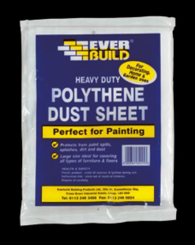 Everbuild Polythene Dust Sheets 12 x 9