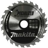 Makita Specialized Portable Saw Blades 165 x 20mm 24T Image 1 Thumbnail