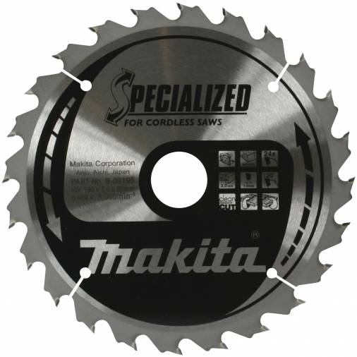 Makita Specialized Portable Saw Blades 165 x 20mm 24T Image 1