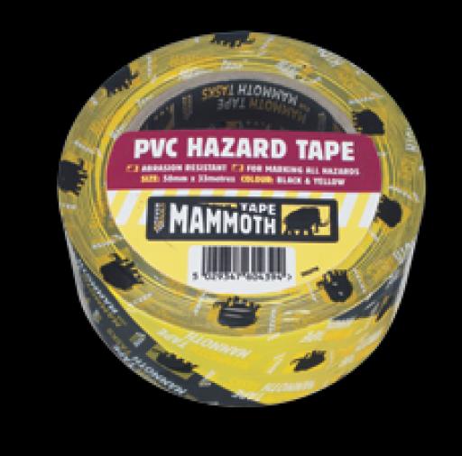 Everbuild PVC Hazard Tape 50mm x 33m (24) Image 1