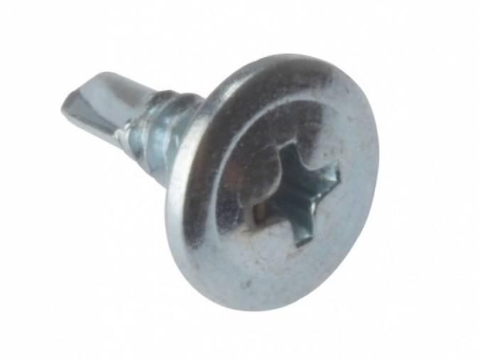 Forgefix Dry Screws Wafer Self Drill 3.5 x 13mm BZP Box 1000 Image 1