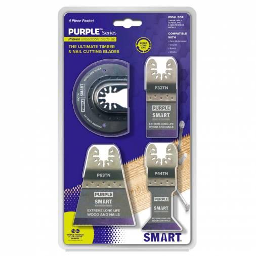 Smart P4MAX Purple Series Bi-M Blade Set Pk4 Image 1