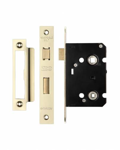 Zoo ZBCPVD Bathroom Lock - Gold Plated (PVD) Image 1