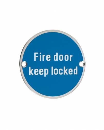 Zoo ZSS10 Fire Door Keep Locked Image 1