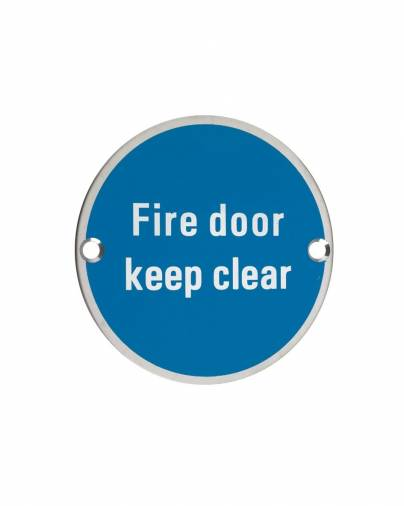 Zoo ZSS11 Fire Door Keep Clear Signage Image 1
