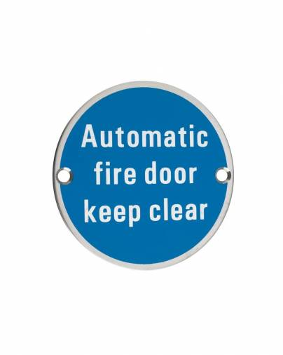 Zoo ZSS12 Automatic Fire Door Keep Clear Signage  Image 1