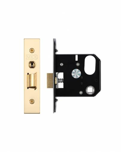 Zoo ZURNL76PVD Nightlatch Case 76mm - Gold Plated (PVD) Image 1