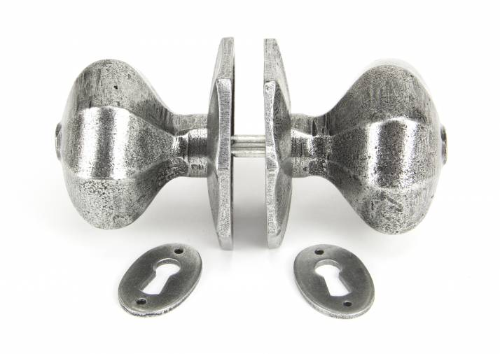 Anvil 33066 Pewter Large Octagonal Mortice/Rim Knob Set Image 5