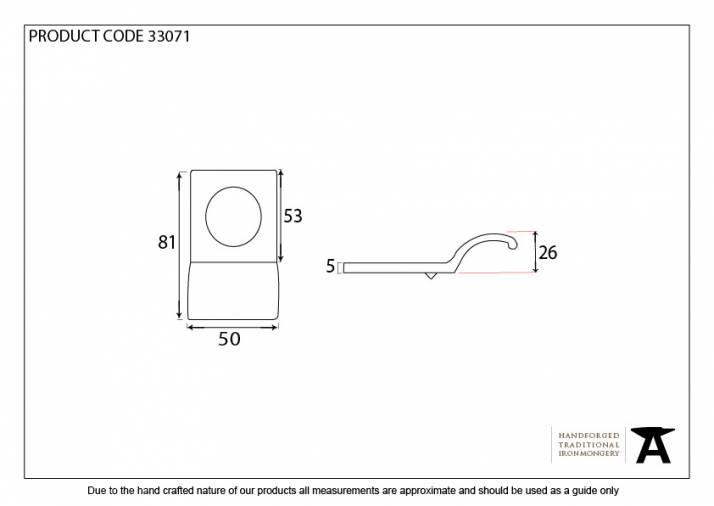 Anvil 33071 Antique Pewter Rim Cylinder Pull Image 2