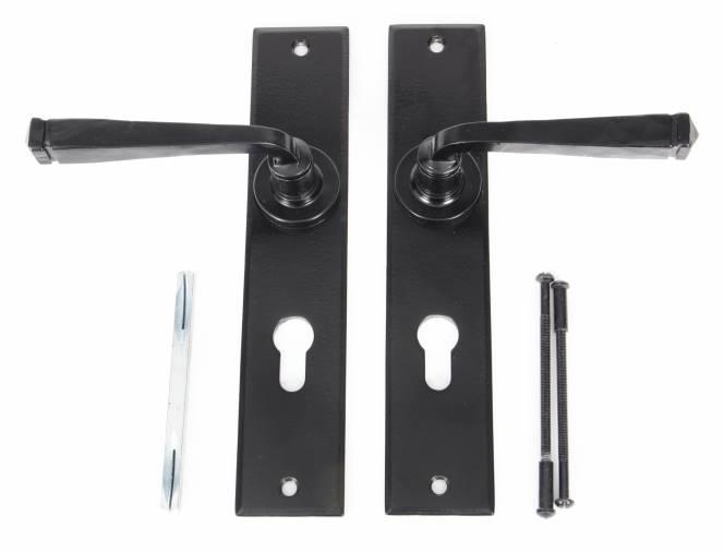 Anvil 33092 Black Large Avon 72mm Centre Euro Lock Set Image 3