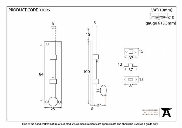 Anvil 33096 Polished Brass 4
