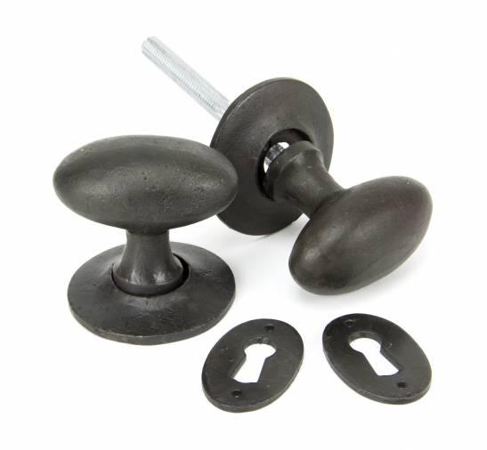Beeswax Oval Mortice/Rim Knob Set Image 1