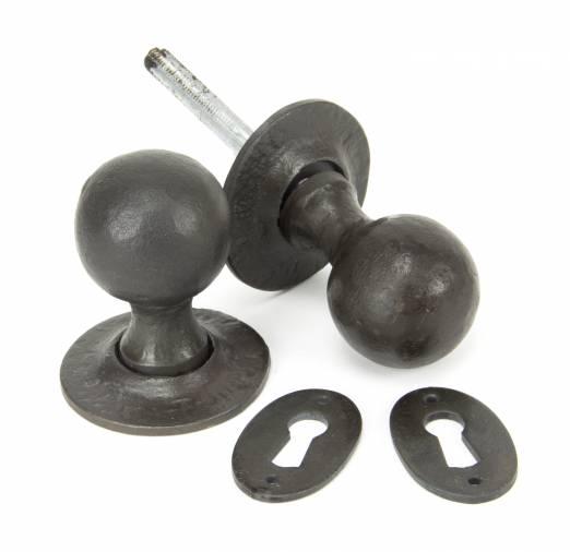 Beeswax Round Mortice/Rim Knob Set Image 1
