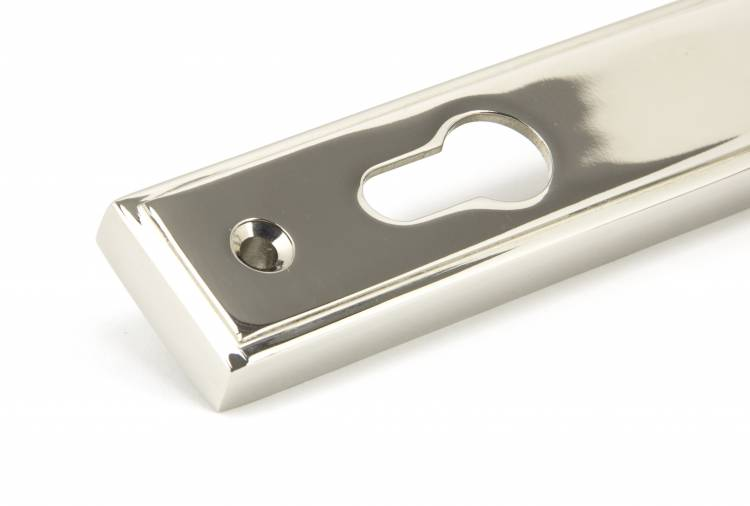 Polished Nickel Reeded Slimline Lever Espag. Lock Set Image 4
