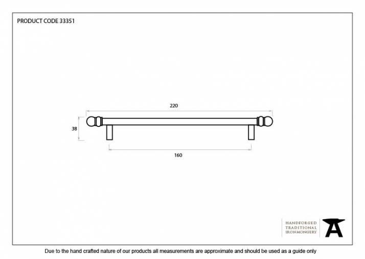 Natural Smooth 220mm Bar Pull Handle Image 4