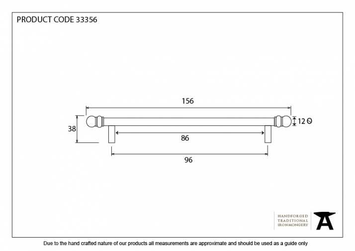 Black 156mm Bar Pull Handle Image 4