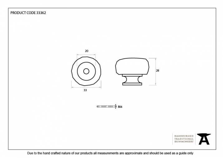 Beeswax Elan Cabinet Knob - Small Image 3