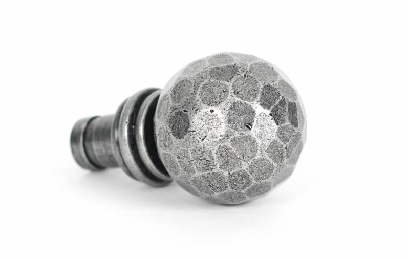 Pewter Hammered Ball Curtain Finial (pair) Image 1
