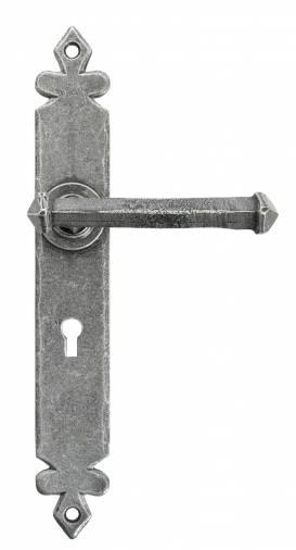 Pewter Tudor Lever Lock Set Image 1
