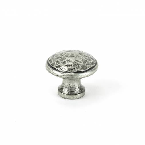 Pewter Hammered Cabinet Knob - Medium Image 1
