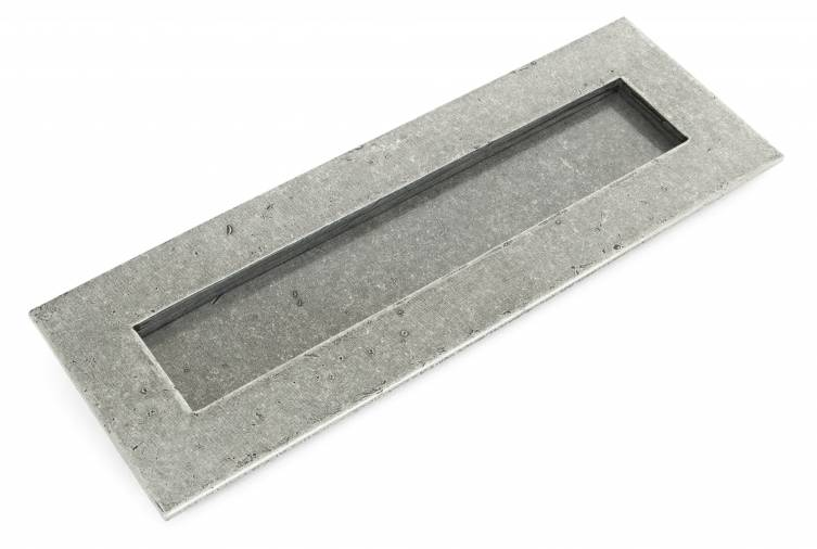 Pewter Large Letter Plate Image 1