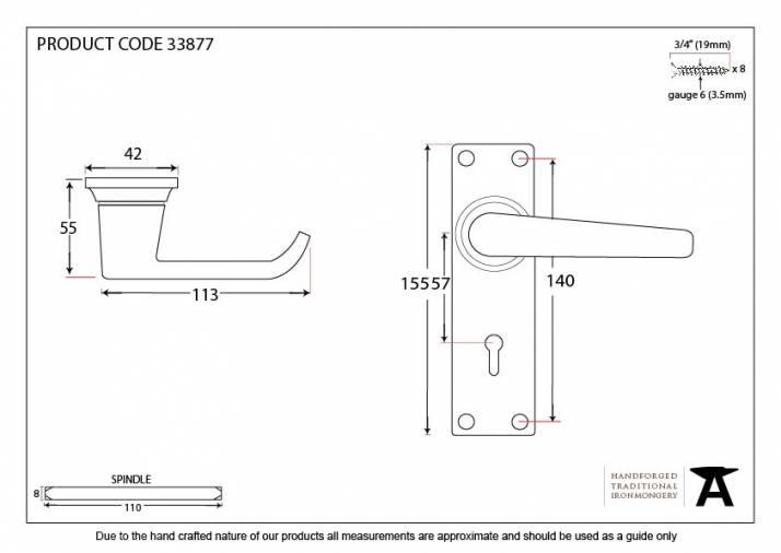 Black Deluxe Lever Lock Set Image 3