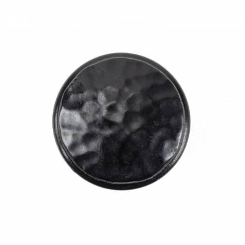 Black Hammered Cabinet Knob - Medium Image 2