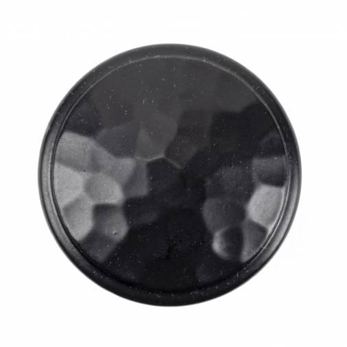 Black Hammered Cabinet Knob - Large Image 2