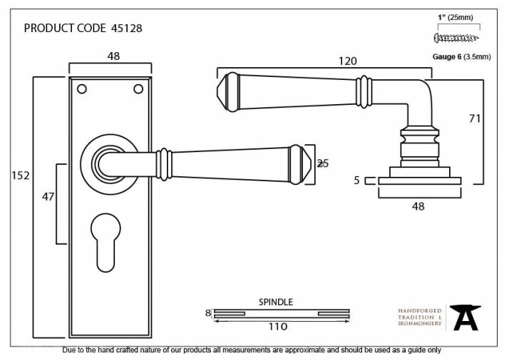 Pewter Regency Lever Euro Lock Set Image 3