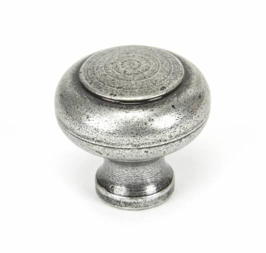 Pewter Regency Cabinet Knob - Large Image 1