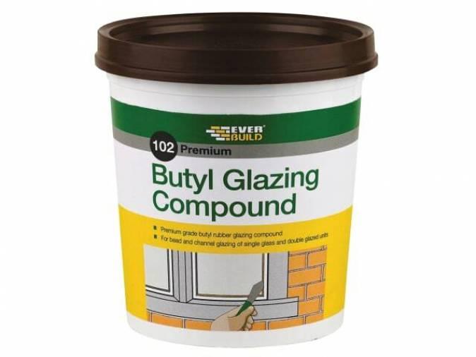 Everbuild 102 Butyl Glazing Compound - Brown 2kg Image 1